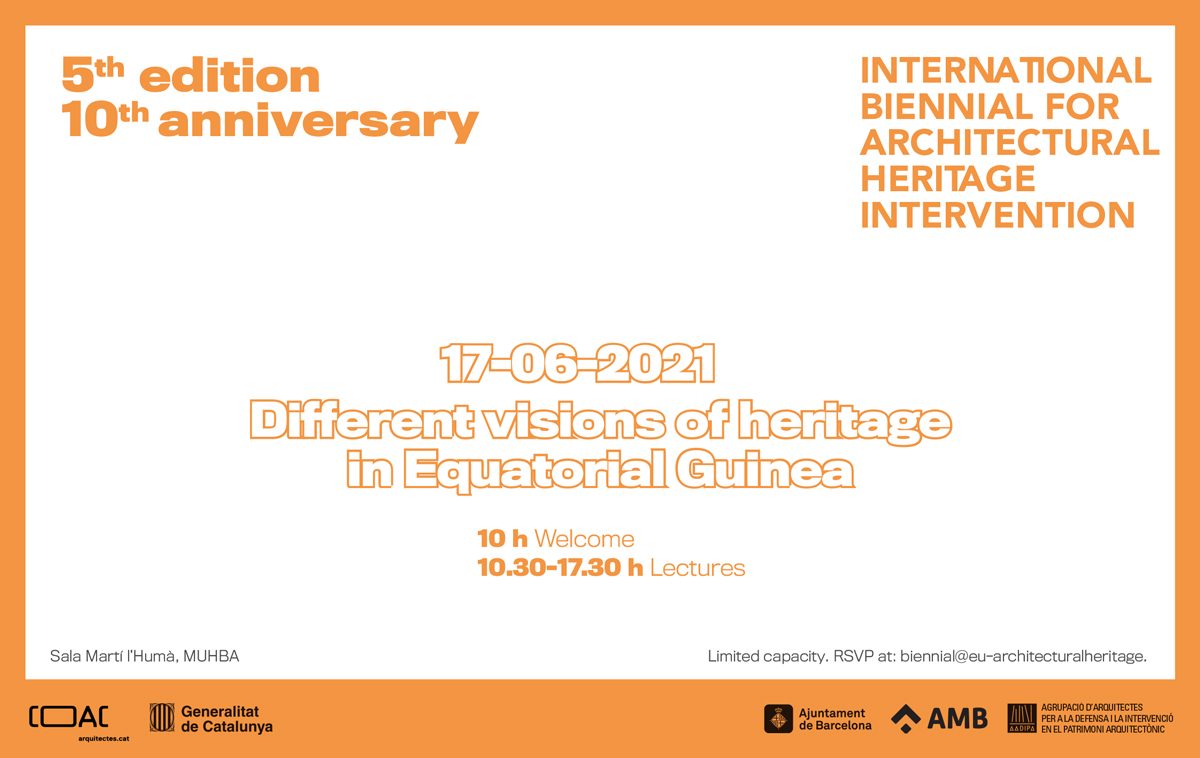 Equatorial Guinea, guest country at the 5th edition of the International Biennial for Architectural Heritage Intervention