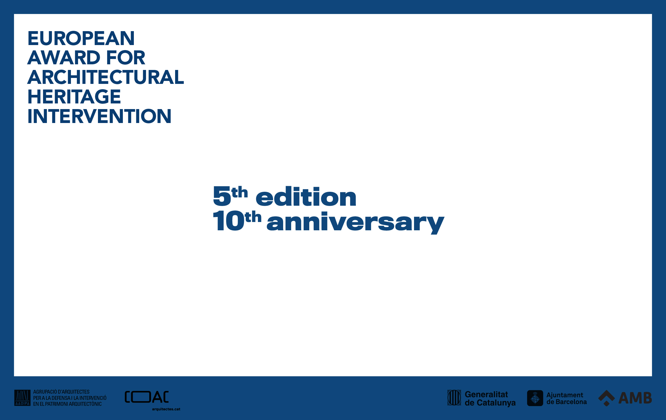 A successful 5th edition of the Award is set to coincide with the celebration of its tenth anniversary