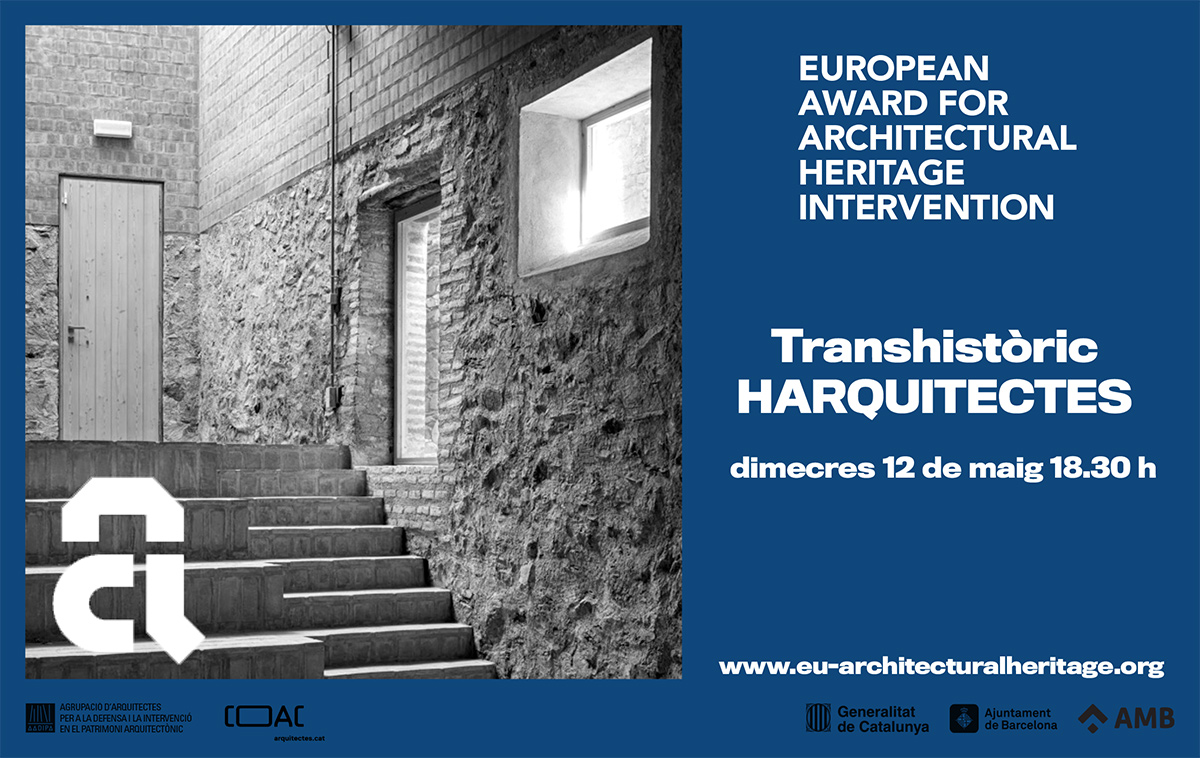"""HArquitectes, invited to Barcelona Architecture Week 2021 by the Award to give the conference """"Transhistoric"""""""